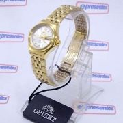 Relógio Orient Automatico Feminino Mini Dourado FNQ1S003W9