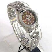 Relógio Orient Automatico Feminino Prateado Marrom Autêntico 25MM