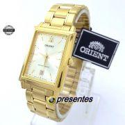 Relógio Orient Dourado Retangular Quartz Unissex 28mm FUNAX004C0