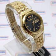 Relógio Orient Feminino Mini (25mm) Automatico Fnq09008b9 Dourado