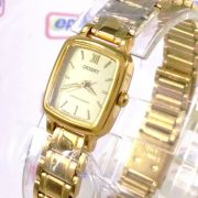 Relógio Orient Feminino Mini Dourado Quartz Retrô 16mm UBJV-N0-A