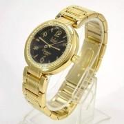 SW85026P Relógio Feminino Dumont Dourado Cristais Swarovski