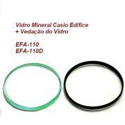 Vidro Mineral + Vedação do vidro Casio Edifice EFA-110 (todos)