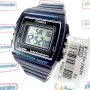 W-215h-2av Relógio Casio Digital Azul Escuro Brilhante Wr50m