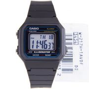 W-217H-1AV Relógio Casio Digital Preto 41mm largura wr50 luz