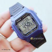 W-800HM-2 Relógio Casio Digital WR100m Iluminação Preto/Azul