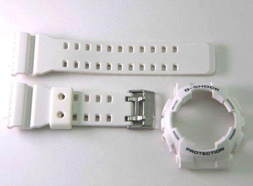 Bezel + Pulseira Casio G-Shock Branco Fosco Ga-120 Gd-101  - E-Presentes