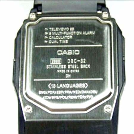 Relógio Casio Databank Dbc-32 C/ Calculadora E 25memorias  - E-Presentes