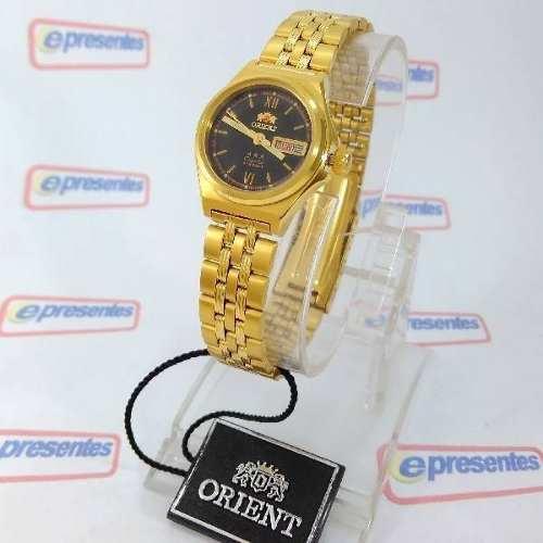 Relógio Orient Automatico Feminino Mini Dourado FNQ1S003B9  - E-Presentes