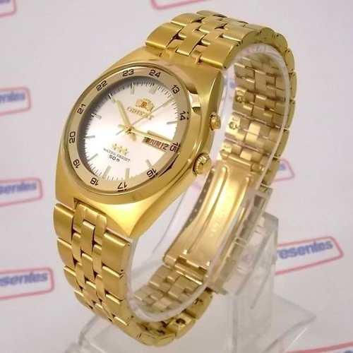b69ce6c16b2 Relógio Orient Masculino Automático Dourado Fem6h00hw9 - E-Presentes