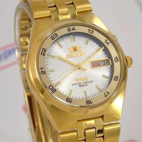 f6120380913 Relógio Orient Masculino Automático Dourado Fem6h00hw9 - E-Presentes