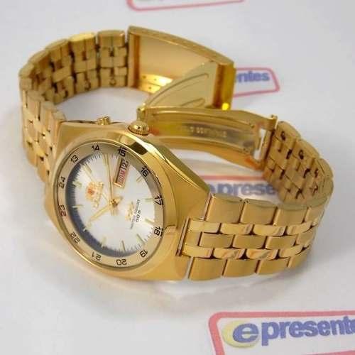 Relógio Orient Masculino Automático Dourado Fem6h00hw9  - Alexandre Venturini