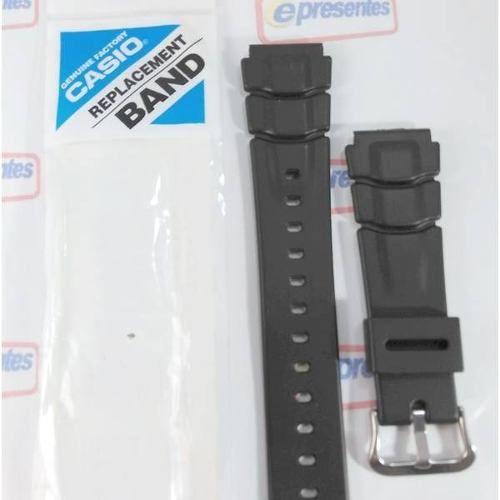 Pulseira Preta Casio Antigo Alt-6000 / 6100 Original 25/22mm  - E-Presentes