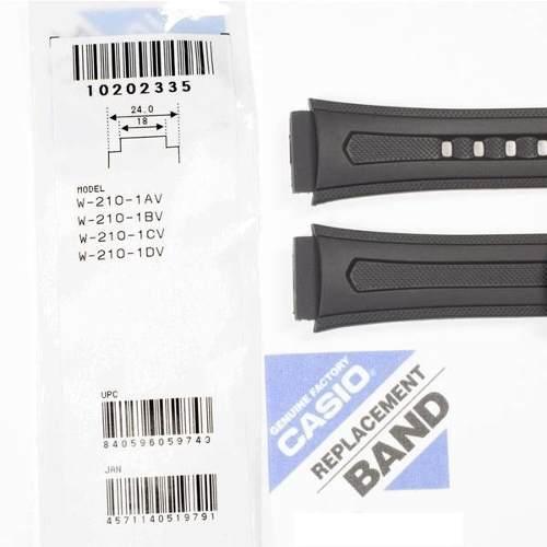 Pulseira Casio W-210 Resina Preta - 100% Original  - E-Presentes