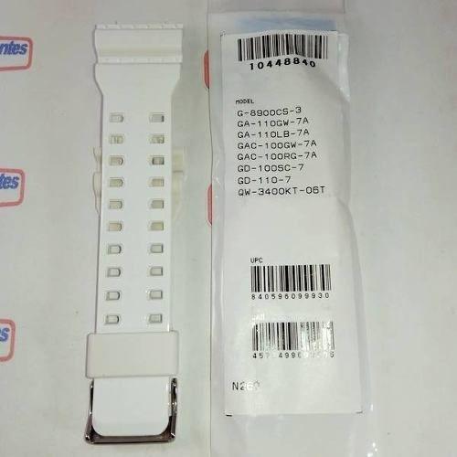 Pulseira Branca Brilhante Casio G-shock G-8900CS-3  GA-110GW-7A  GA-110LB-7A  GAC-100GW-7A GAC-100RG-7A  GD-110-7  QW-3400KT-06T   - E-Presentes