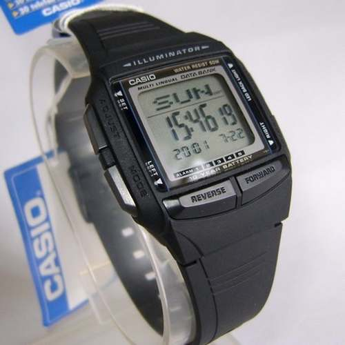462fac41137 Db-36-1av Relógio Casio Databank Bateria 10anos Agenda - E-Presentes