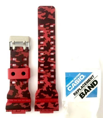Pulseira Casio G-shock Camuflado Vermelho Ga-120 Cm Original  - E-Presentes