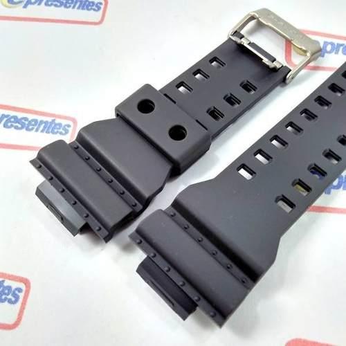 Pulseira Casio G-shock Ga-100c-8a Ga-110ts Grafite Original  - E-Presentes