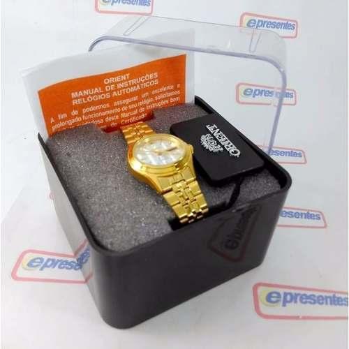 Relógio Feminino Orient Automatico Dourado Mini FNQ0400fW9  - E-Presentes