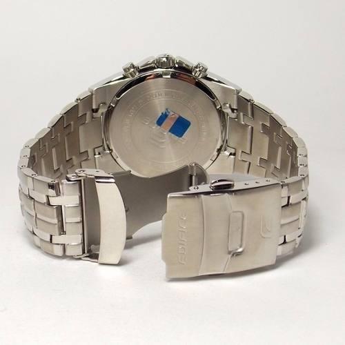 Ef-540d 7a2vdf Relogio Edifice Casio Watch Steel White Blue  - E-Presentes