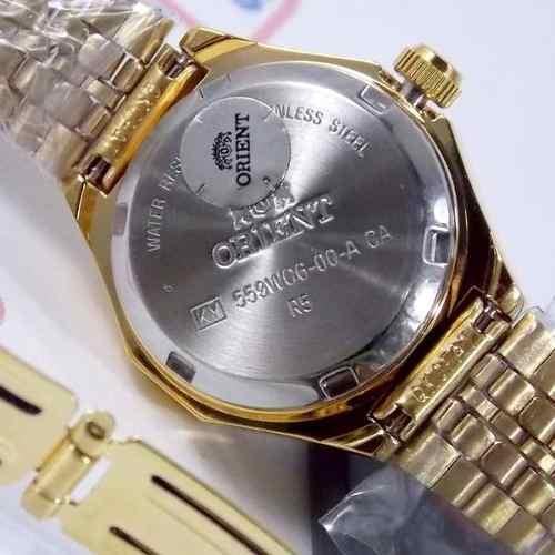 Relógio Orient Feminino Mini (25mm) Automatico Fnq09008w9 Dourado  - E-Presentes