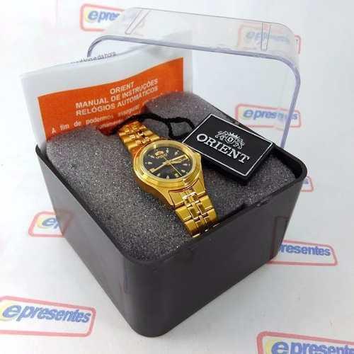 Relógio Feminino Orient Automatico Dourado Mini Fnq0400bb9  - E-Presentes