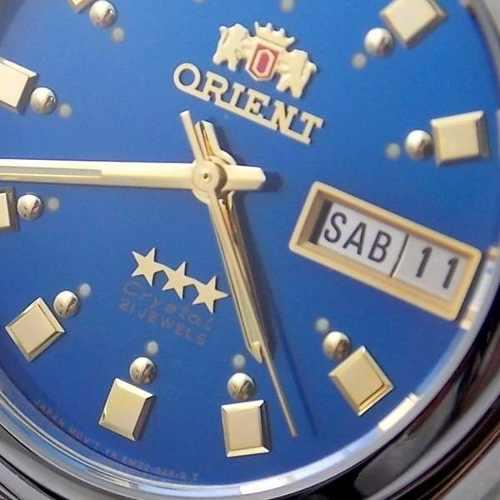 Relógio Masculino Orient Automatico Azul Fem6q00ej9 Original  - E-Presentes