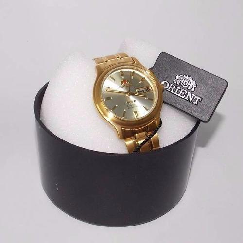 Relógio Orient Automatico Dourado  Fem0201uc9 35mm  - E-Presentes