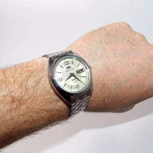 Relógio Masculino Orient Automático 100% Original Fem0401uc9  - E-Presentes