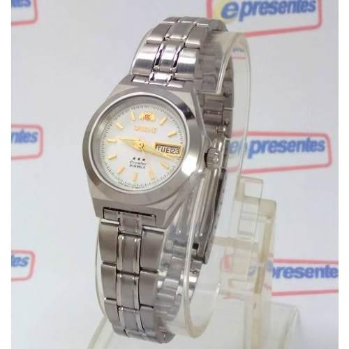Relógio Orient Automatico Feminino Mini Fnq1a00aw9 Autêntico  - E-Presentes