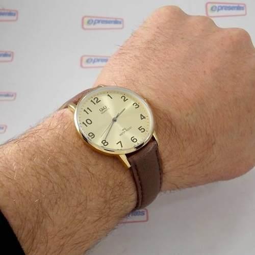 Relógio Masculino Pulseira Couro Q&q Qz00j103y - Maq Citizen  - E-Presentes