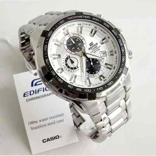 Relógio Casio Edifice Fundo Branco Ef 539d-7av -100% Original  - E-Presentes