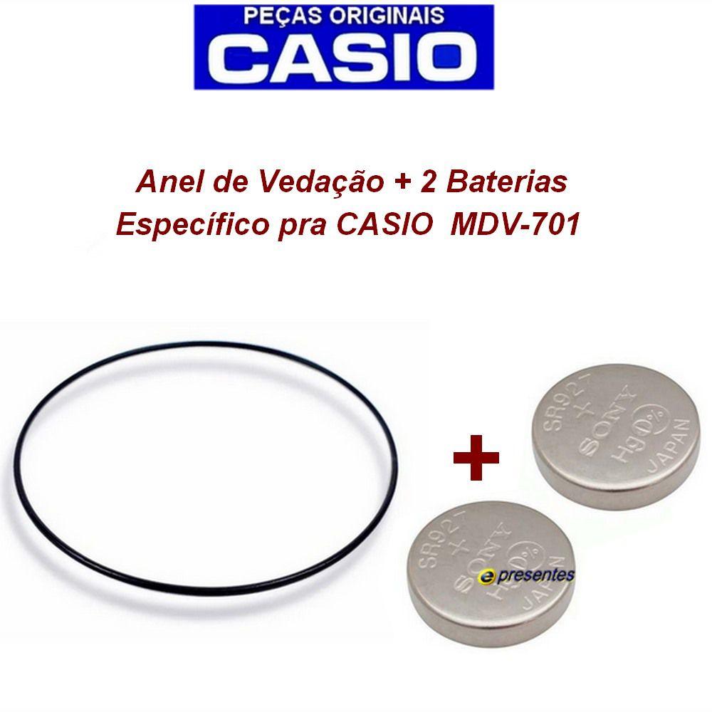 2 Baterias + Anel Vedação traseiro para MDV-701 - Peças Originais  - E-Presentes