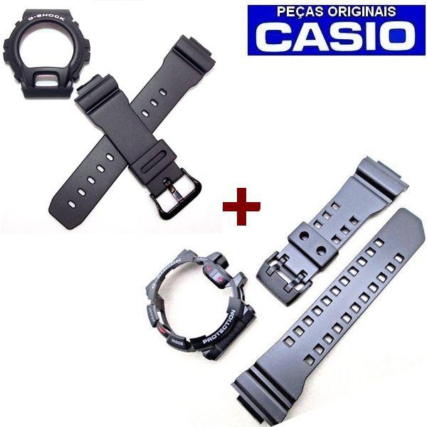 2 kits Pulseira + BEZEL GA-400-1BDR + DW-6900BW PEÇAS ORIGINAIS  - E-Presentes