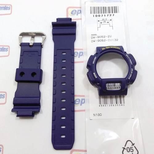 Pulseira + Capa Casio G-shock Azul Dw-9052-2, Dw-9050, Dw-9000, Dw-9051,  100% Original  - E-Presentes