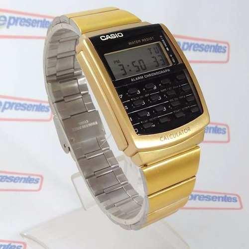 Relógio Casio Retrô Vintage Dourado Calculadora Ca-506g-9adf  - Alexandre Venturini