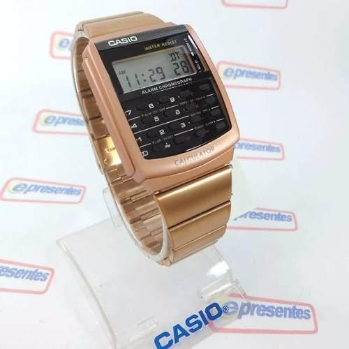 Relógio Casio Retrô Vintage Rosê Calculadora Ca-506c-5adf  - Alexandre Venturini