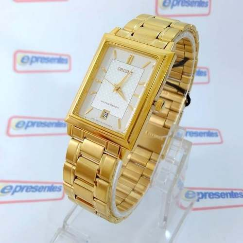 FUNAX001W0 Relógio Orient Dourado Unissex 28mm Mov. Quartz  - E-Presentes