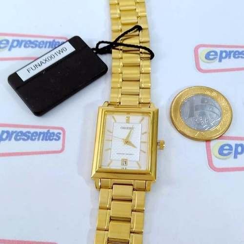 FUNAX001W0 Relógio Orient Dourado Unissex 28mm Mov. Quartz  - Alexandre Venturini