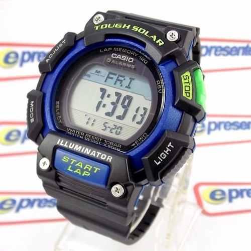 Relógio Casio Digital Stl-s110h-1b Wr100m Bateria Solar  - E-Presentes
