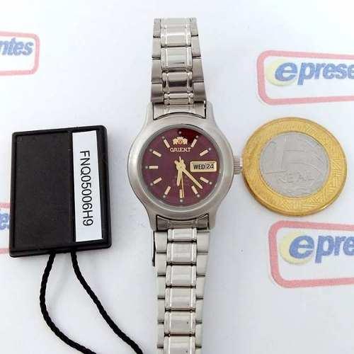 Relógio Feminino Orient Automatico Pequeno Mini Fnq05006h9  - E-Presentes