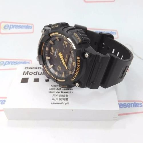 Aq-s810w 1a3 Relógio Casio Tough Solar Anadigi 100m Original  - E-Presentes