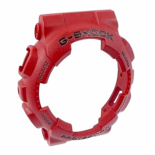 Capa Protetora Bezel Casio G-shock Vermelho GA-100B-4A GA-110FC-1A GA-100C-4A GA-120TR-4A *  - E-Presentes