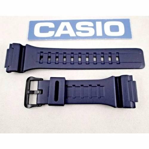 Pulseira Casio Azul 100%original W-735 W-736 Aq-s810 Aeq-110  - E-Presentes