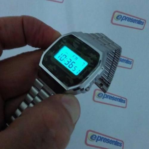 A168WEC-3DF Relógio Casio Retro Camuflado 100% Original   - E-Presentes