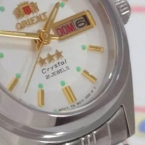 Relógio Orient Automatico Feminino Mini Autêntico Fnq1x001w9  - E-Presentes
