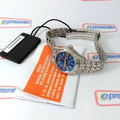 Relógio Feminino Orient Automatico Mini Prateado Fnq04005d9  - E-Presentes