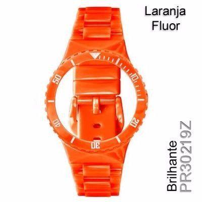 Pr30219z Pulseira Champion Laranja Fluor Brilhante Original  - E-Presentes