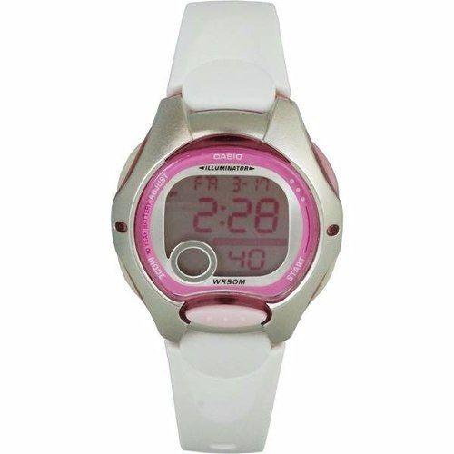 Relogio Casio Digital Feminino Pequeno Rosa/branco Lw-200-7a  - E-Presentes