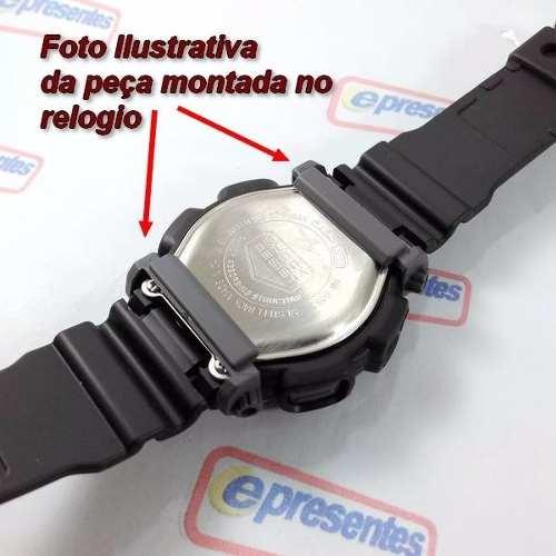 Par De Protetores (Case Back) Cor Cinza Casio Dw-9051 Dw-9052  - E-Presentes